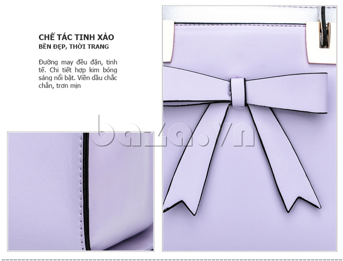 Túi xách nữ Binnitu 7320 Nơ trang trí nổi bật chế tác tinh xảo