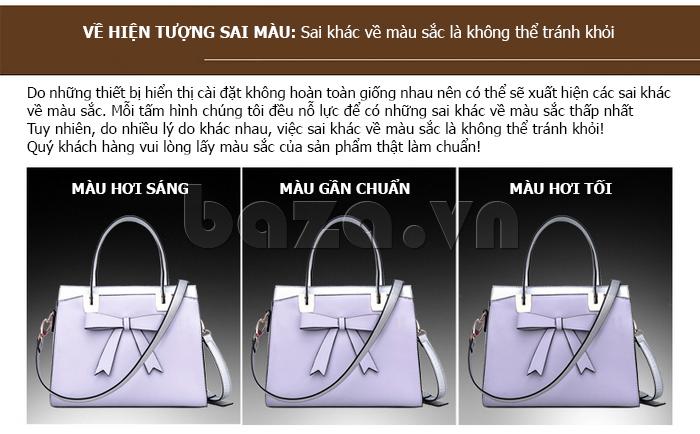 Túi xách nữ Binnitu 7320 Nơ trang trí nổi bật phong cách cá tính độc đáo hàng đầu