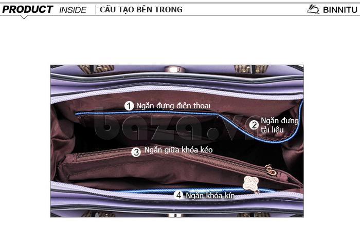 Túi xách nữ Binnitu 7320 Nơ trang trí nổi bật đa dạng sức chứa