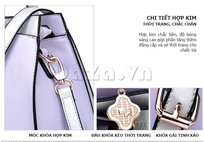Túi xách nữ Binnitu 7320 Nơ trang trí nổi bật đường chỉ sáng bóng
