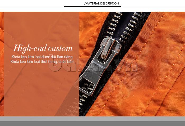 áo khoác nam thể thao No1Dara WTN38507 nổi bật với khóa kéo kim loại
