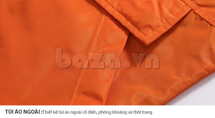 Thiết kế túi áo ngoài cổ điển, phóng khoáng và thời trang