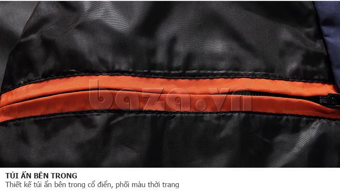 Thiết kế túi ẩn bên trong cổ điển, phối màu thời trang