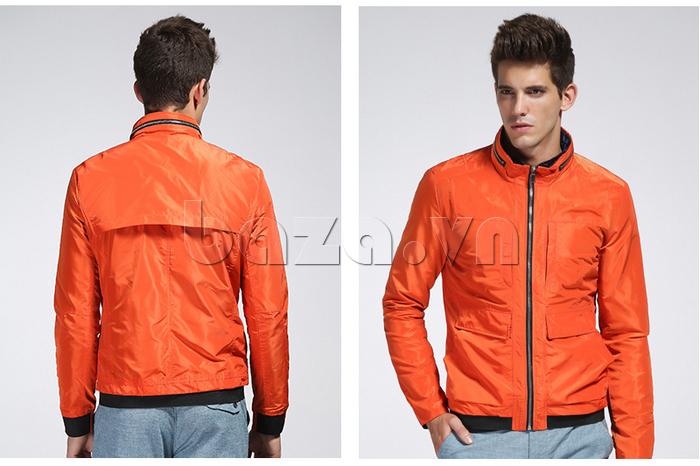 mặt trước và mặt sau áo khoác nam thể thao No1Dara WTN38507