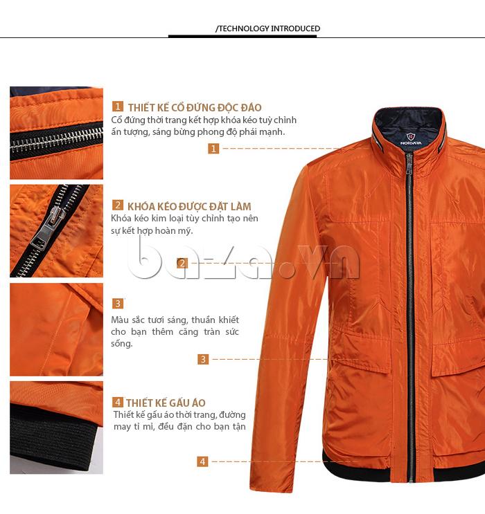 Thiết kế cổ áo đứng thời trang kết hợp khóa kéo tùy chỉnh đầy ấn tượng