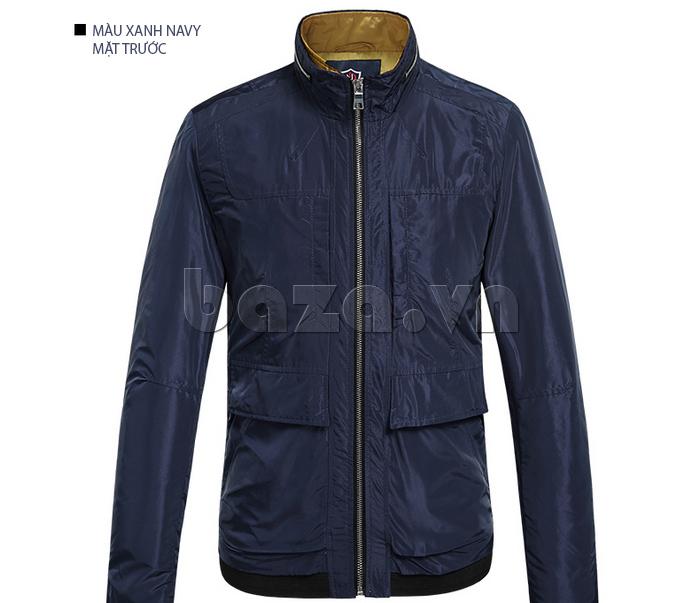 áo khoác nam thể thao No1Dara WTN38507 màu xanh navy mặt trước