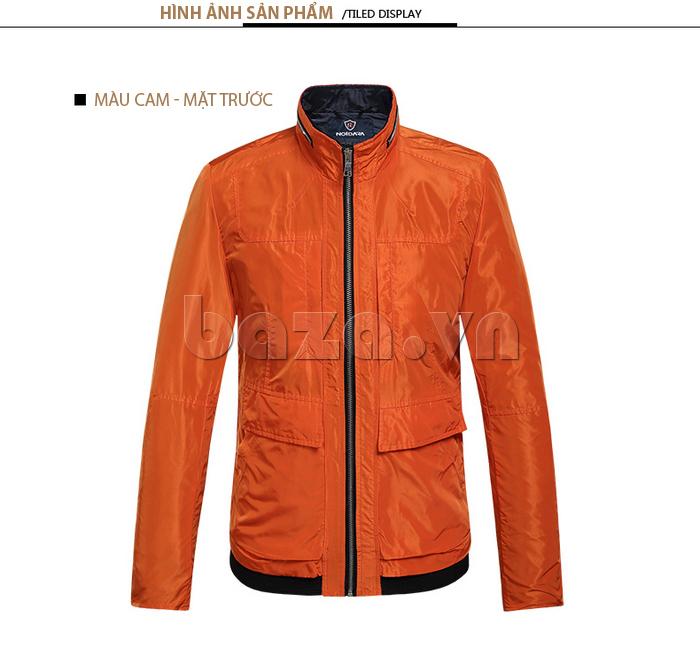 áo khoác nam thể thao No1Dara WTN38507 màu cam mặt trước