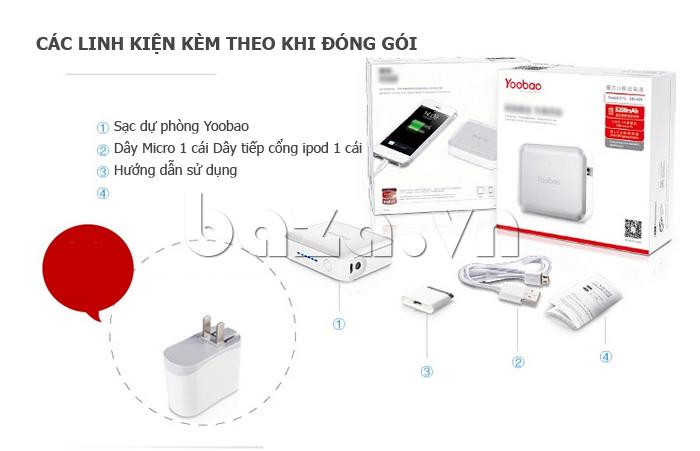 Pin dự phòng di động 5200mAh Yoobao DK025 YB-629 bền đẹp