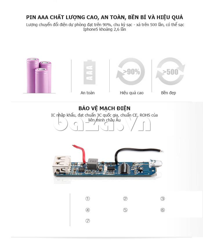 Pin dự phòng di động 5200mAh Yoobao DK025 YB-629 bền