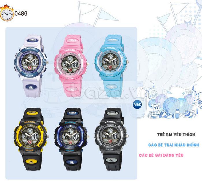 Đồng hồ thể thao PASNEW màu sắc sang trọng và dễ dàng mix đồ