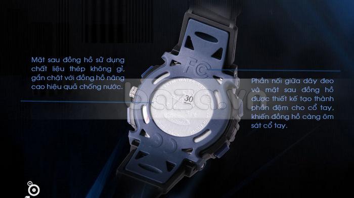 Đồng hồ thể thao PASNEW mặt sau đồng hồ sử dụng chất liệu thép không gỉ