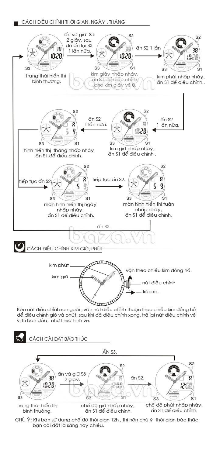 Đồng hồ thể thao PASNEW: cách điều chỉnh thời gian