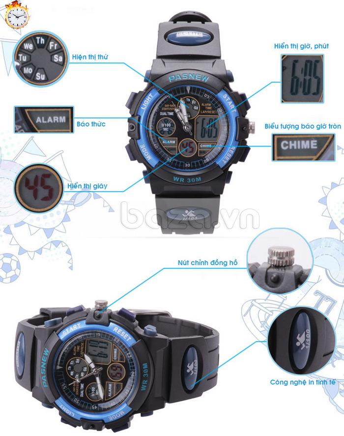 Đồng hồ thể thao PASNEW tiện dụng và thời trang