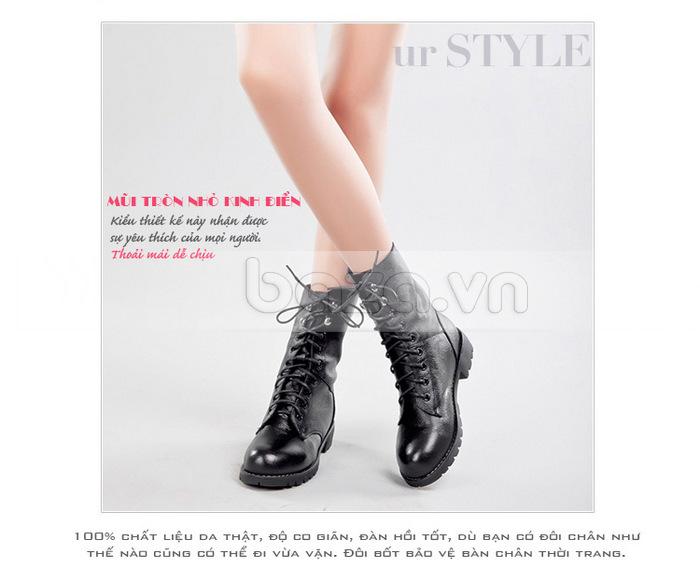 Mũi giày nhỏ tròn kinh điển tạo thoải mái và dễ chịu