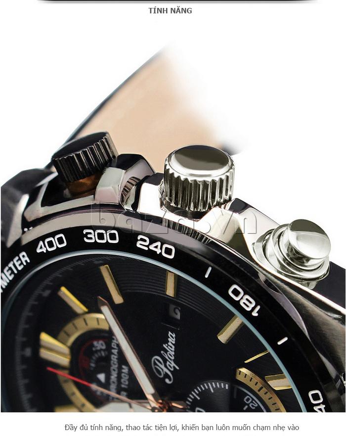 Đồng hồ nam mặt khoáng Pafolina RL-3520 tích hợp nhiều chức năng