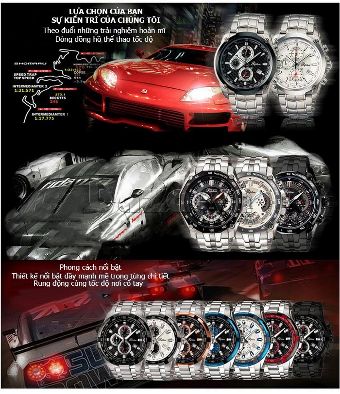Đồng hồ nam mặt khoáng Pafolina RL-3520 mạnh mẽ đầy nam tính