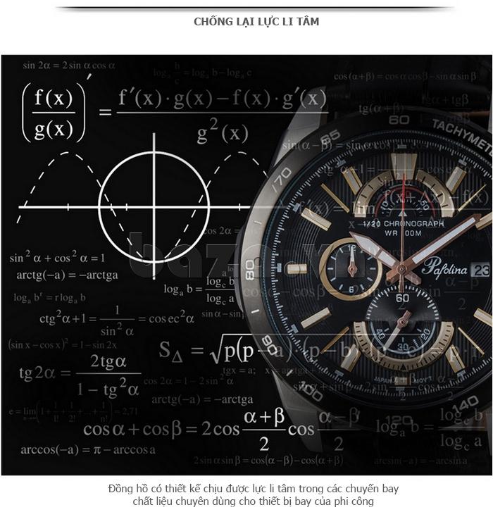 Đồng hồ nam mặt khoáng Pafolina RL-3520 áp suất cao