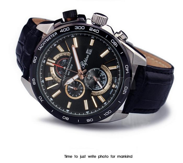 Đồng hồ nam mặt khoáng Pafolina RL-3520 mặt kính khoáng