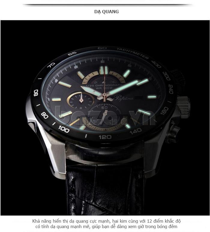 Đồng hồ nam mặt khoáng Pafolina RL-3520 phát quang buổi tối
