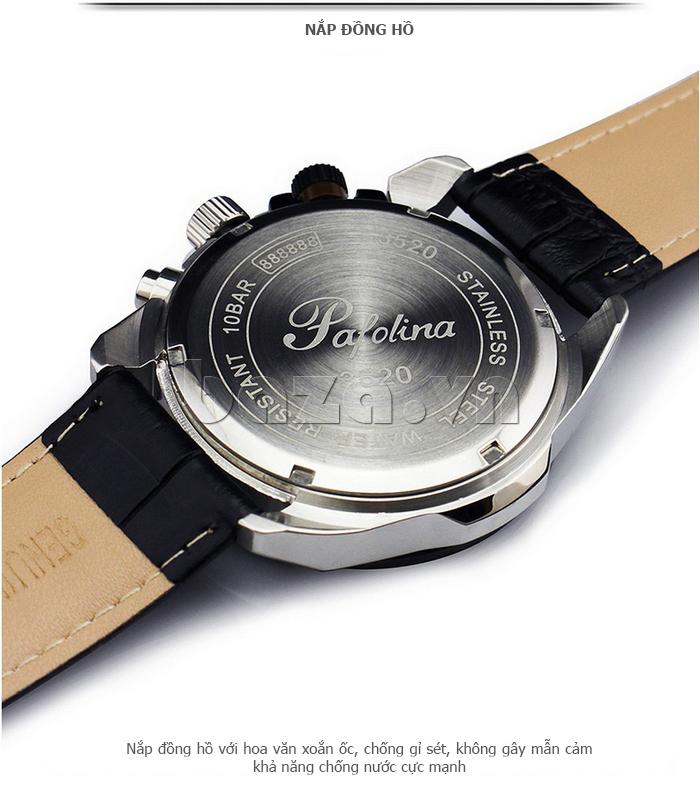 Đồng hồ nam mặt khoáng Pafolina RL-3520 thân bằng thép không gỉ cao cấp