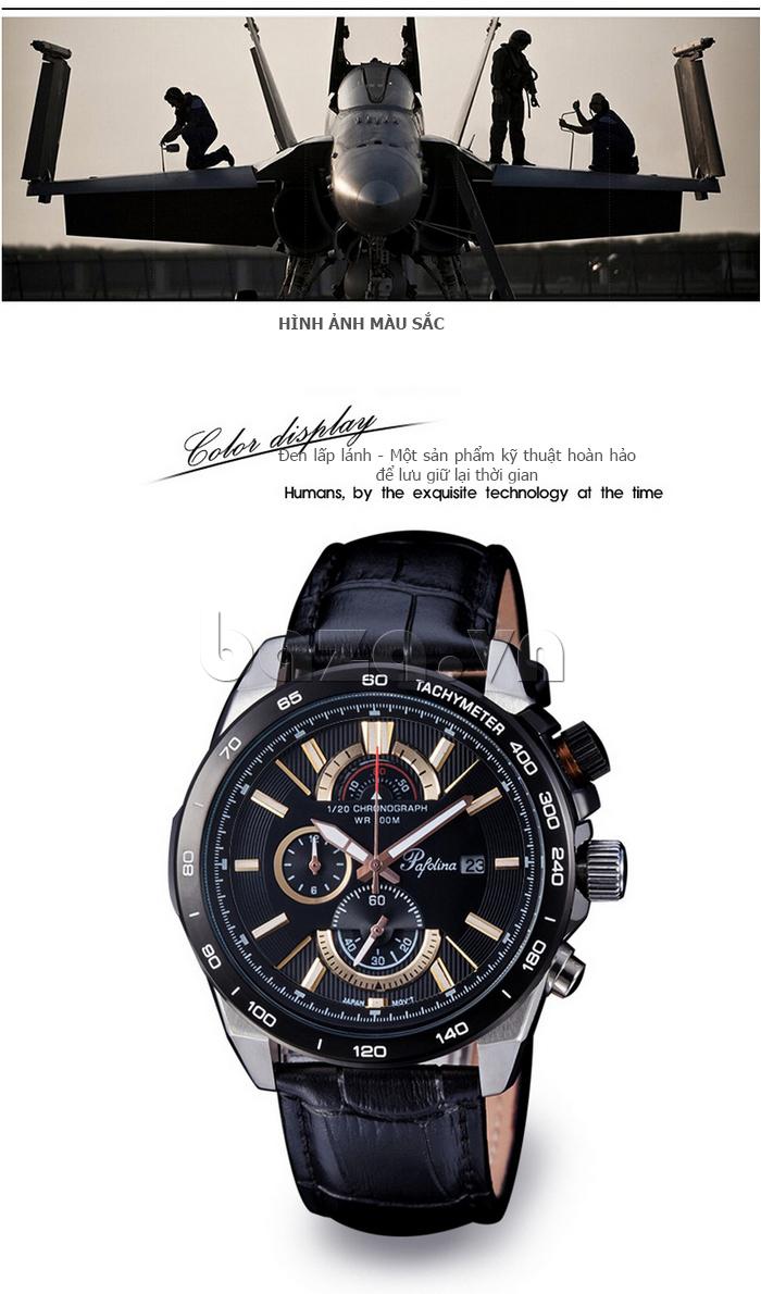 Đồng hồ nam mặt khoáng Pafolina RL-3520 đa chức năng
