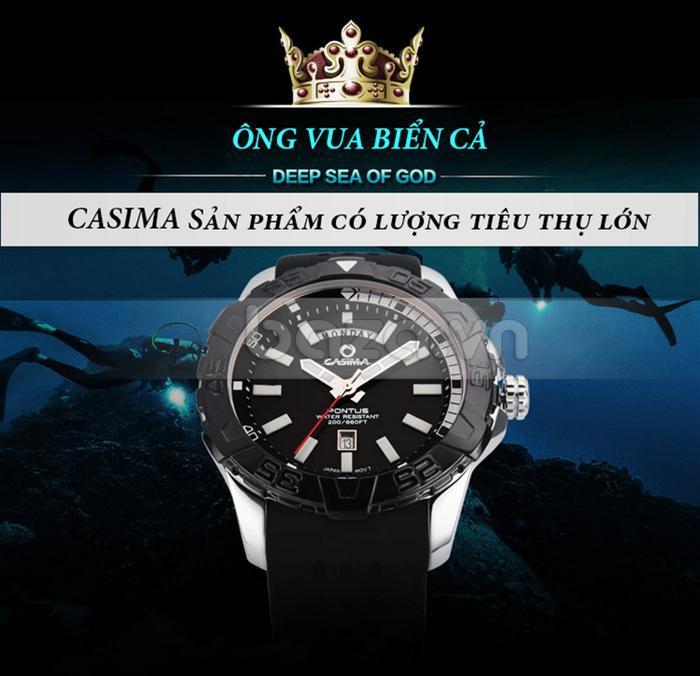 Đồng hồ nam Casima PT-8901 - Ông vua của biển cả