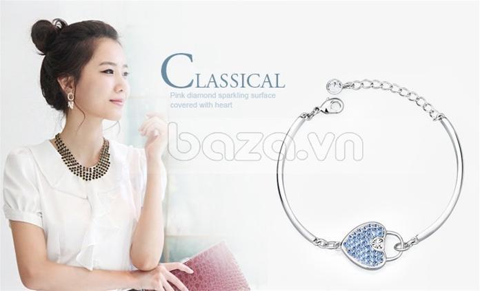 Baza.vn: Lắc Tay Trái Tim Dịu Êm kiểu dáng thời trang