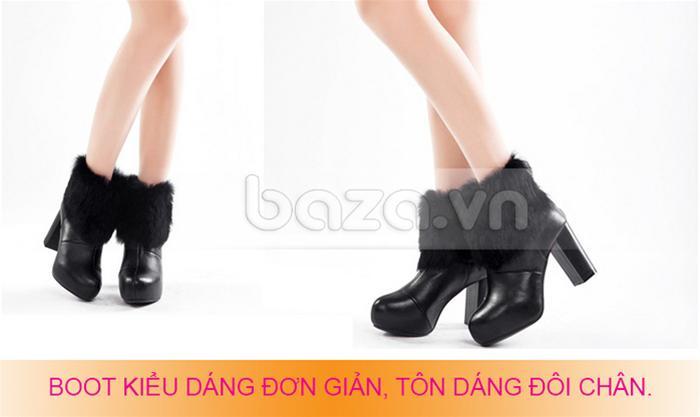 Giày boot kiểu dáng đơn giản tôn dáng chân