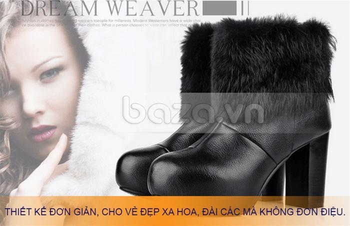 Giày bốt nữ YiYa thiết kế đơn giản mà sang trọng
