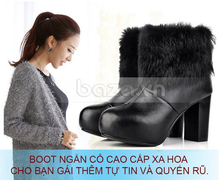 Bốt nữ Yiya dòng ankle boots cho bạn gái tự tin và quyến rũ