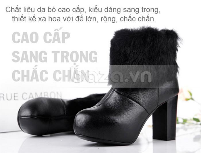 Ankle boots Yiya cao cấp -- sang trọng - chắc chắn