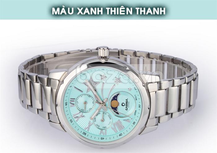 Đồng hồ mặt xanh thiên thanh mang đến vẻ thời trang và tươi mới