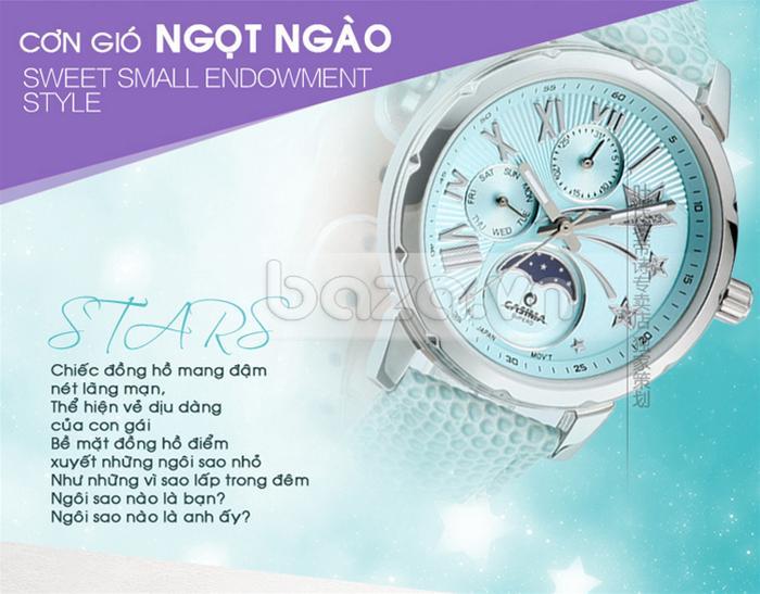 Đồng hồ nữ Casima SP-2802 mang đậm nét lãng mạn, thể hiện vẻ dịu dàng của người con gái