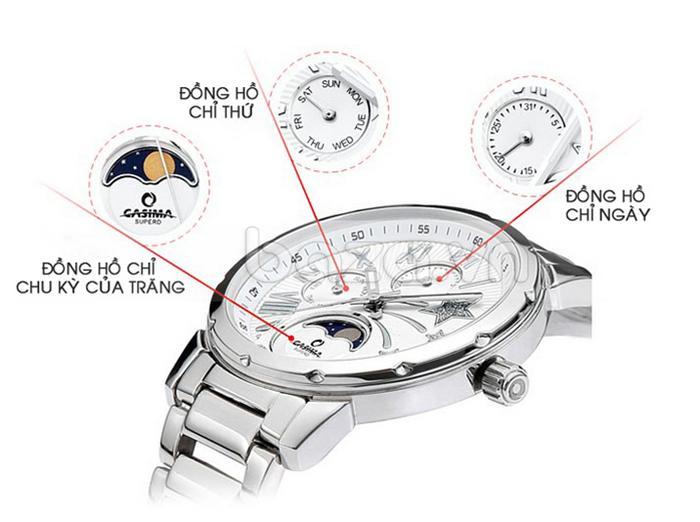 Có tới 3 mặt đồng hồ phụ bên trong chiếc đồng hồ nữ độc đáo này