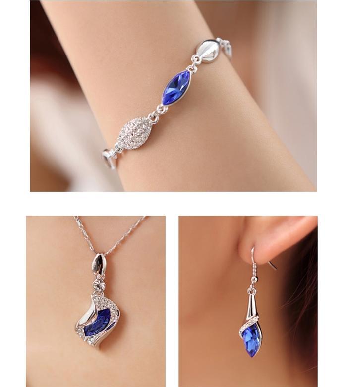 lắc tay nữ Thiên thần đá xanh sapphire