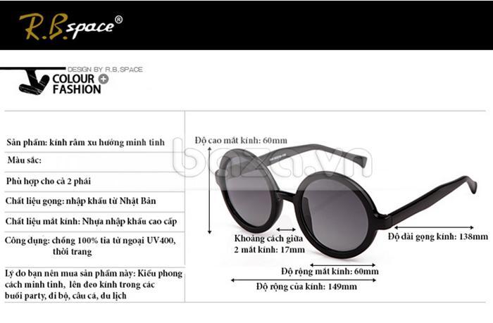 Thông tin sản phẩm Kính mắt RBSPACE 85050 gọng dày