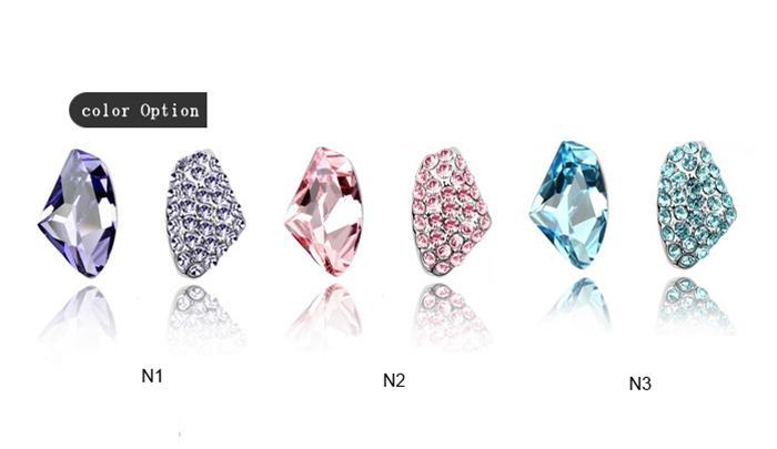 baza.vn: hoa tai vũ điệu thiên nga đính đá màu sắc đa dạng
