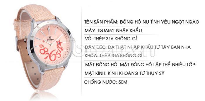 thông tin của Đồng hồ nữ Casima SP-2802-SL6
