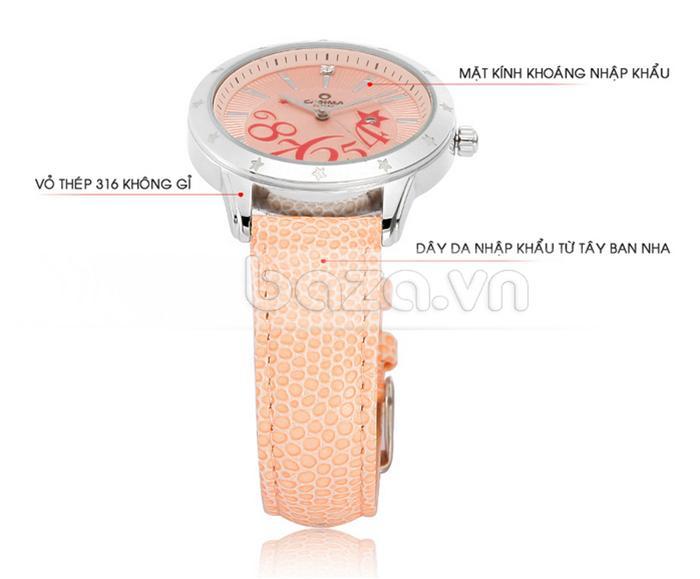 Đồng hồ nữ Casima SP-2802-SL6 thiết kế tỉ mỉ