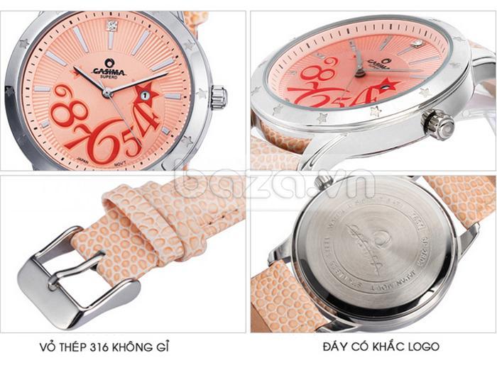 Đồng hồ nữ Casima SP-2802-SL6 thiết kế tinh tế