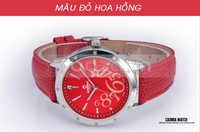 Đồng hồ nữ Casima SP-2802-SL6 màu đỏ