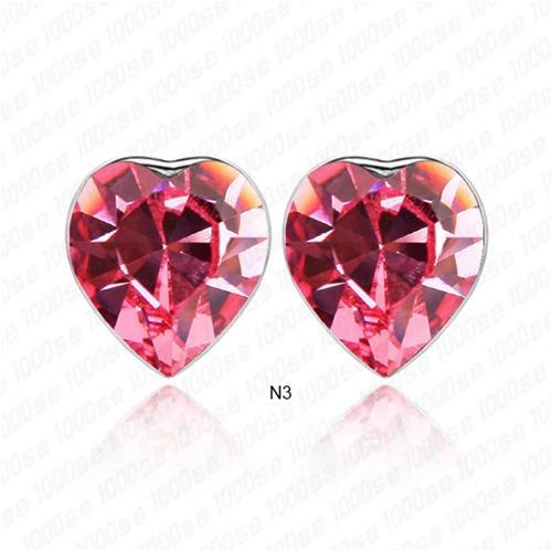 baza.vn: hoa tai trái tim tình nhân đỏ rực trái tim đang yêu