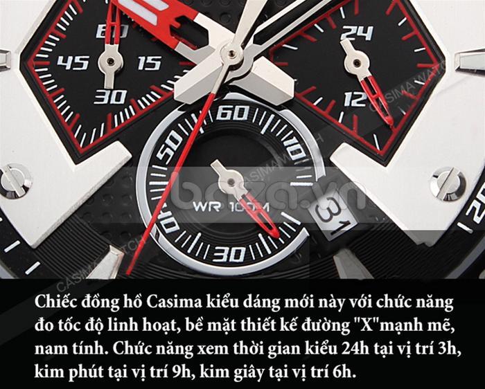 Đồng hồ nam Casima ST-8103-S8  có 3 mặt đồng hồ phụ