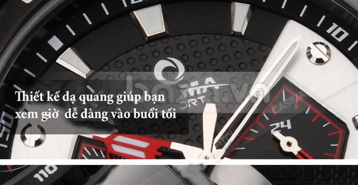 Đồng hồ nam Casima ST-8103-S8  thiết kế dạ quang nhìn giờ ban đêm