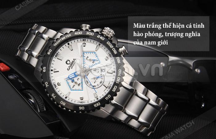 Đồng hồ nam Casima ST-8103-S8  màu trắng trẻ trung