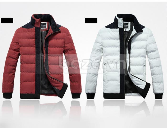 Áo khoác nam No1Dara WT9669 màu đỏ và trắng