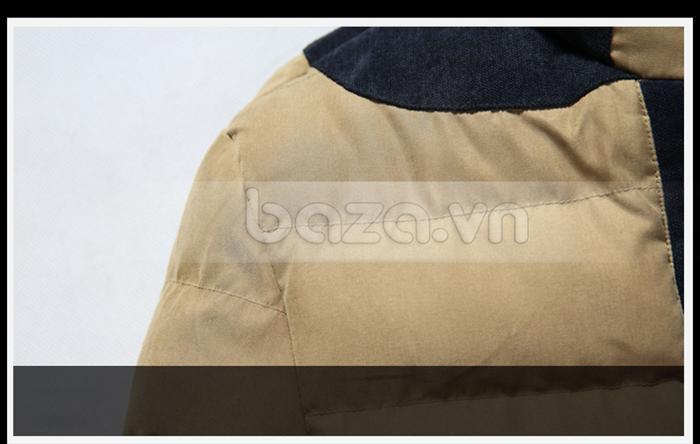 Áo khoác nam No1Dara WT9669 với vai áo nối vải cá tính