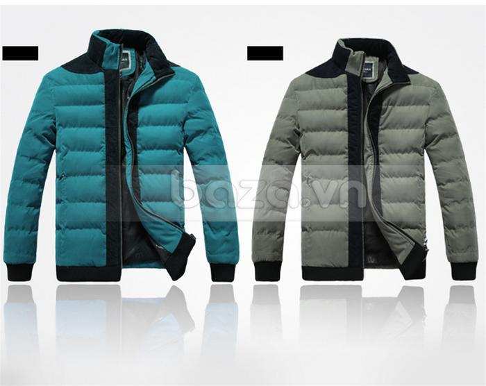 Áo khoác nam No1Dara WT9669 xanh coban và xám