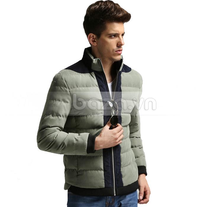 Áo khoác nam No1Dara WT9669 màu xanh rêu nhạt