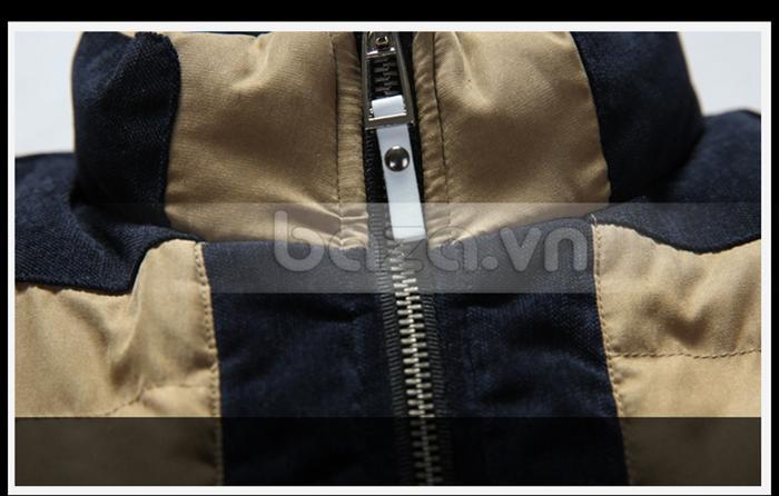 Kiểu áo phao nam khóa kéo tiện lợi